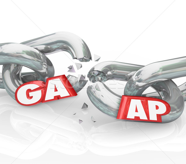 GAAP Generally Accepted Accounting Principles Broken Chains Viol Stock photo © iqoncept