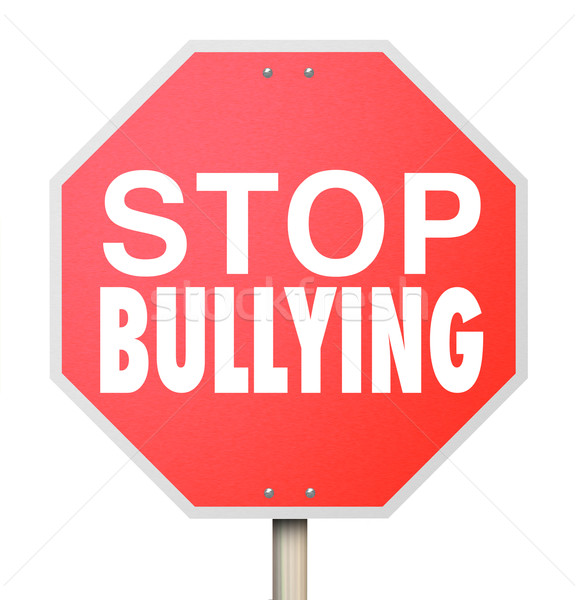 Stop Bullying Mean Kids Picking On Fighting Children School Stock photo © iqoncept