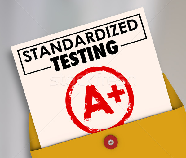 Standardized Testing Report Card Grading Evaluation Common Consi Stock photo © iqoncept