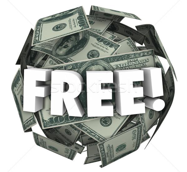 Free Money Ball Sphere Word Bonus Special Offer Deal Stock photo © iqoncept