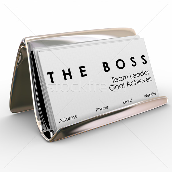 The Boss Business Card Holder Manager President Executive Leader Stock photo © iqoncept