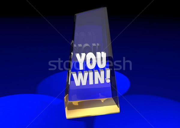 Vincere top premio premio concorrenza illustrazione 3d Foto d'archivio © iqoncept