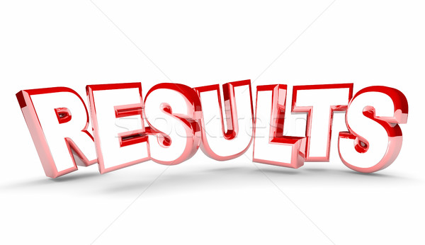 Results Outcome End Return on Investment Word 3d Illustration Stock photo © iqoncept