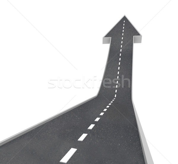 Growth - Arrow Road Rising Upward Stock photo © iqoncept