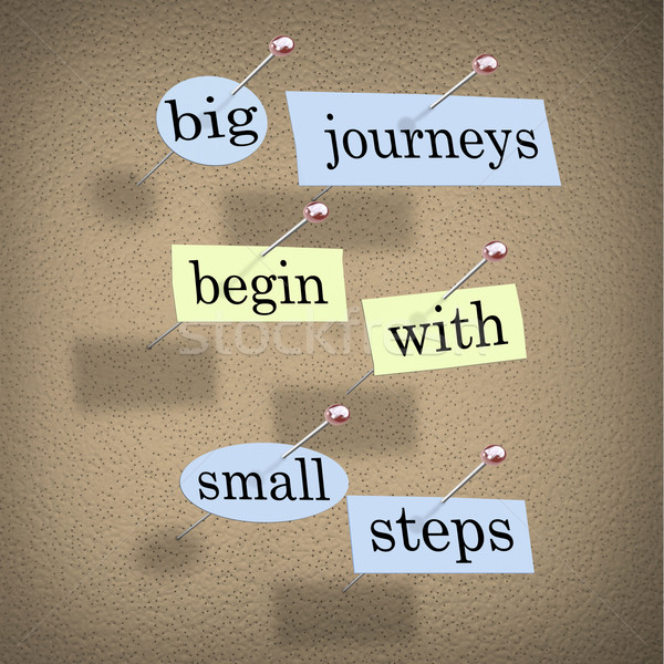 Big Journeys Begin With Small Steps Stock photo © iqoncept