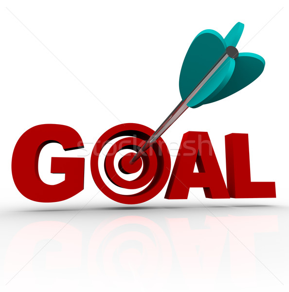 Goal Word - Arrow in Target Stock photo © iqoncept