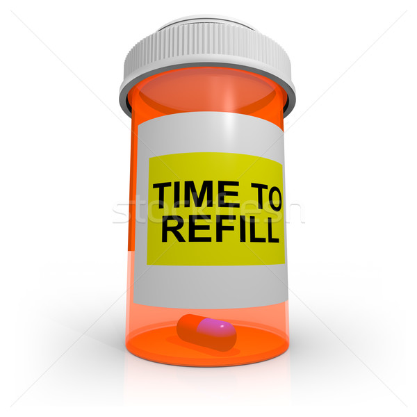 Empty Prescription Bottle - Time to Refill Stock photo © iqoncept