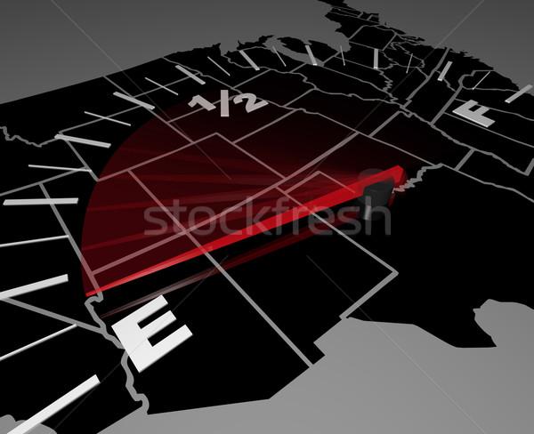 Stock fotó: Fut · üres · Egyesült · Államok · Amerika · hanyatlás · térkép