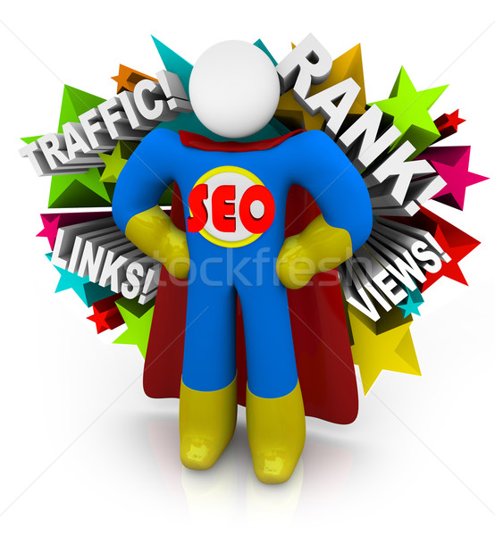SEO Superhero Consultant Advice on Improving Web Results Stock photo © iqoncept