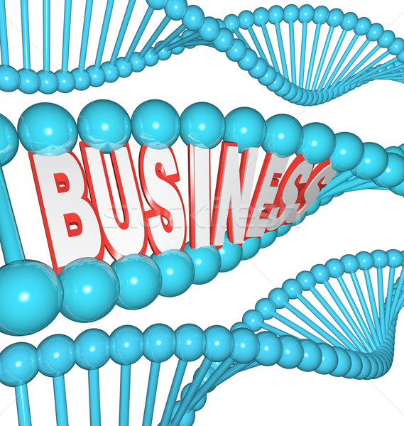 Business is in Your DNA Inherited Drive to Succeed Stock photo © iqoncept