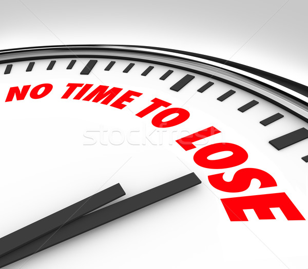 No Time to Lose Clock Counting Down Final Minutes Stock photo © iqoncept