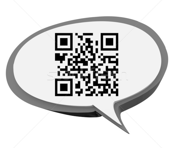QR Code Speech Bubble Product Information Scan Stock photo © iqoncept