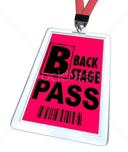 Back Stage Pass - Lanyard and Badge Stock photo © iqoncept