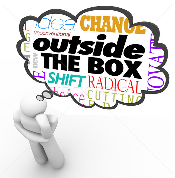 Outside the Box Thinking Person Creativity Innovation Stock photo © iqoncept