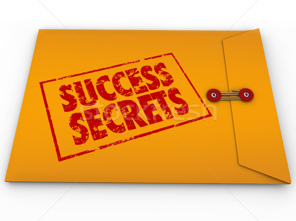 Stock photo: Success Secrets Winning Information Classified Envelope