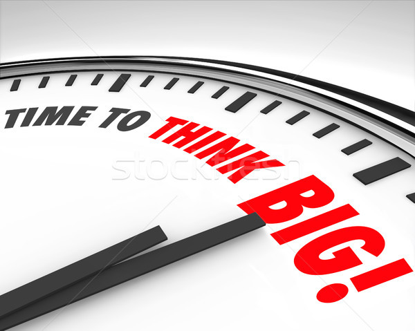 Time to Think Big Clock Creativity Innovation Brainstorming Stock photo © iqoncept