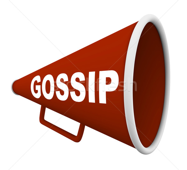 Gossip - Word on Bullhorn Stock photo © iqoncept