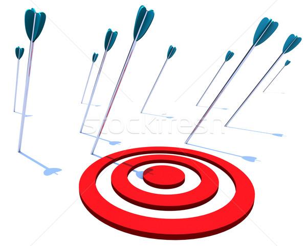отсутствующий целевой многие Стрелки цель не Сток-фото © iqoncept