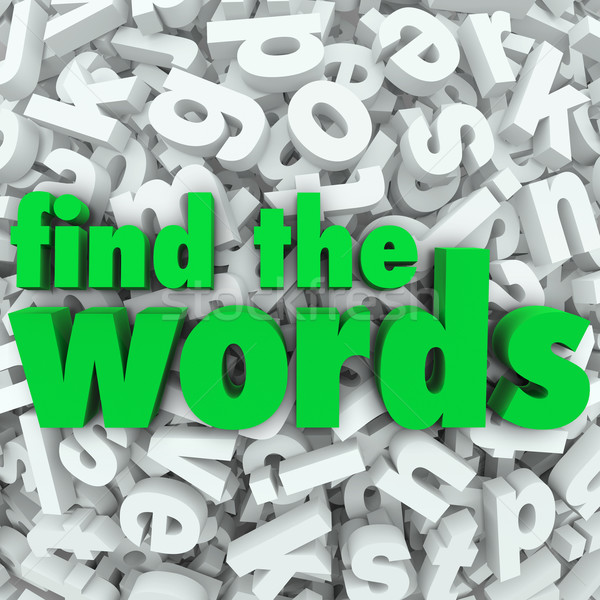 Find the Words Wordsearch Puzzle Game Challenge Stock photo © iqoncept