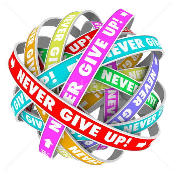 Never Give Up Endless Progress Determination  Stock photo © iqoncept