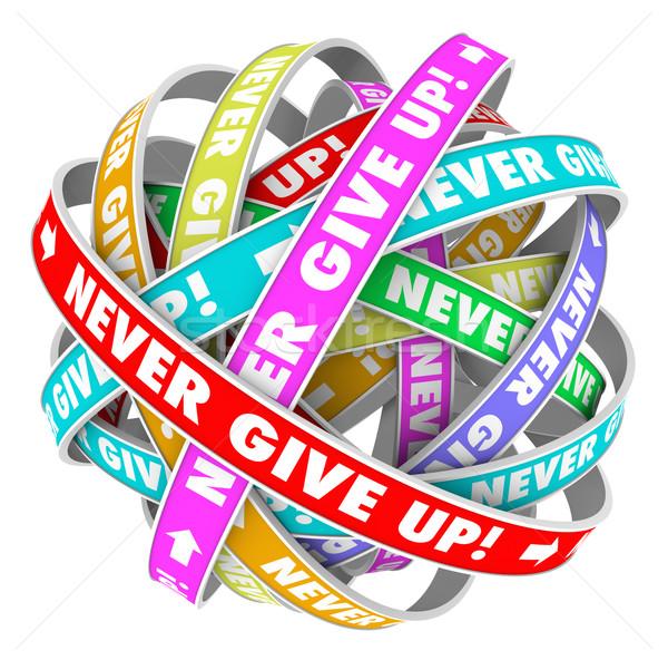 Сток-фото: никогда · давать · вверх · бесконечный · прогресс