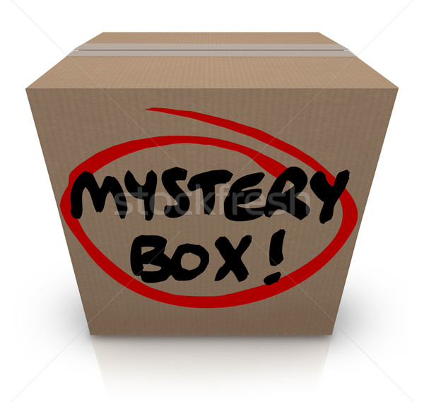 Mystery Cardboard Box Shipment Package Classified Contents Stock photo © iqoncept