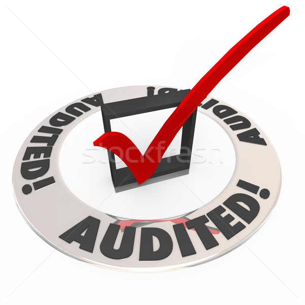 Audited Check Mark Box Financial Inspection Approval Stock photo © iqoncept