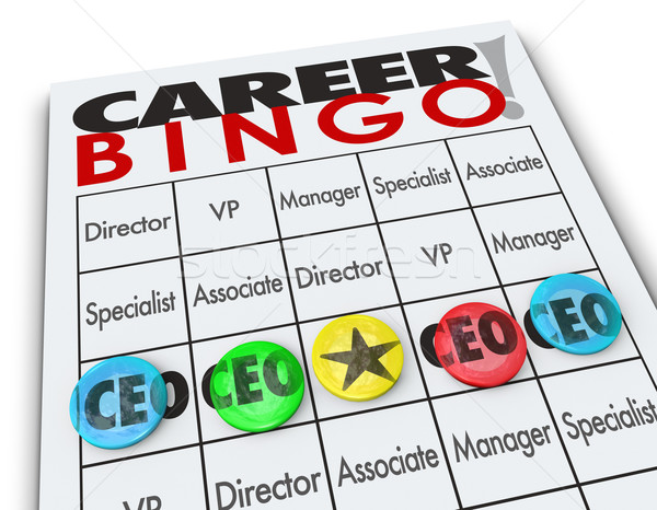 Career Bingo Chips CEO Chief Executive Officer Position Stock photo © iqoncept
