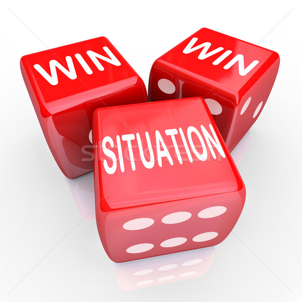 Win Win Situation Mutual Benefits Deal Arrangement Agreement Stock photo © iqoncept