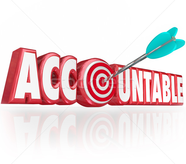Accountable Word 3d Letters Arrow Target Responsibility Stock photo © iqoncept