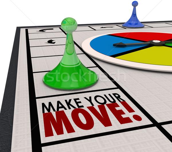 Gyártmány mozgás társasjáték darab tevékenység előre Stock fotó © iqoncept