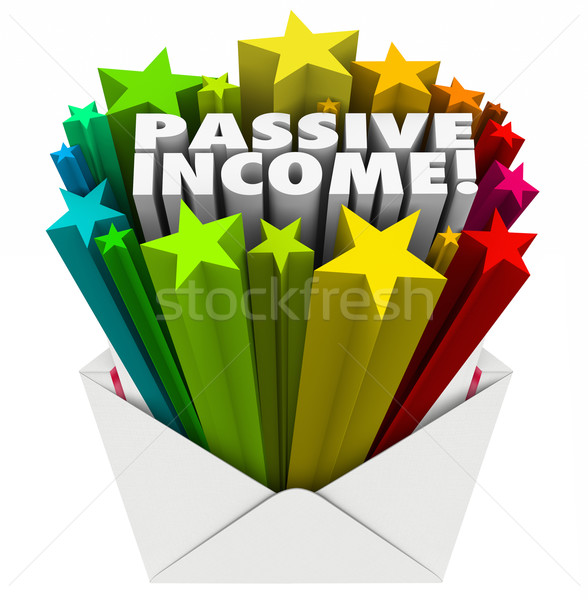 Passive Income Envelope Words Easy Money Earning Payment Salary Stock photo © iqoncept