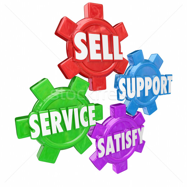 Sell Support Service Satisfy Customer Help Assistance Principles Stock photo © iqoncept