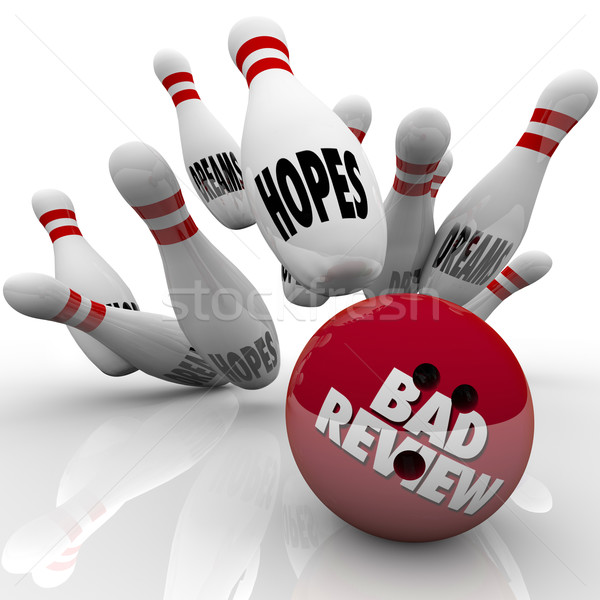 Bad Review Poor Performance Bowling Ball Strikes Hopes Dreams Stock photo © iqoncept