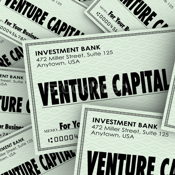 Venture Capital Words Check Money New Company Business Investmen Stock photo © iqoncept