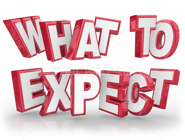What to Expect Red 3d Words Guidance Explanation Stock photo © iqoncept