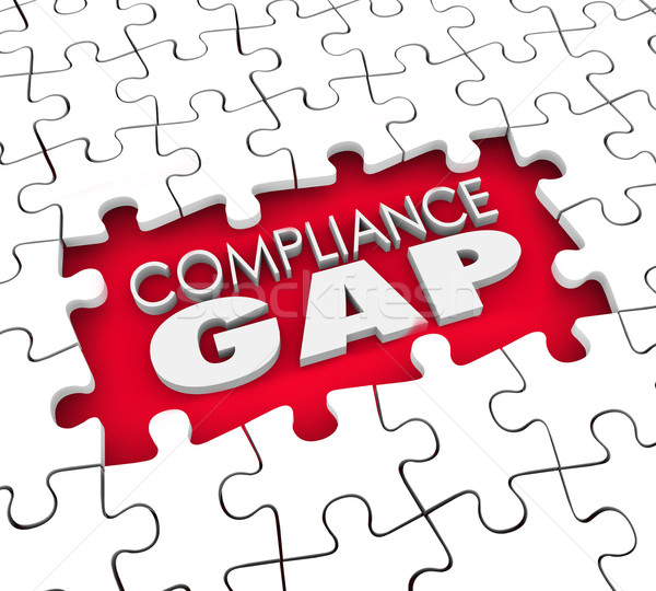 Compliance Gap Puzzle Hole Risk Liability Not Following Rules Stock photo © iqoncept