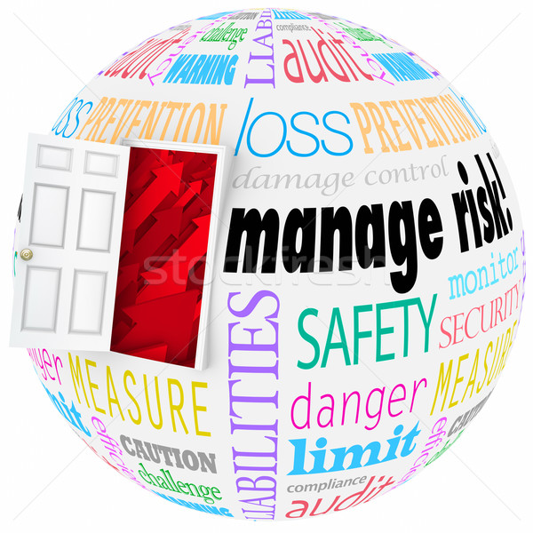 Manage Risk Reduce Danger Hazard Problems Open Door Lower Chance Stock photo © iqoncept