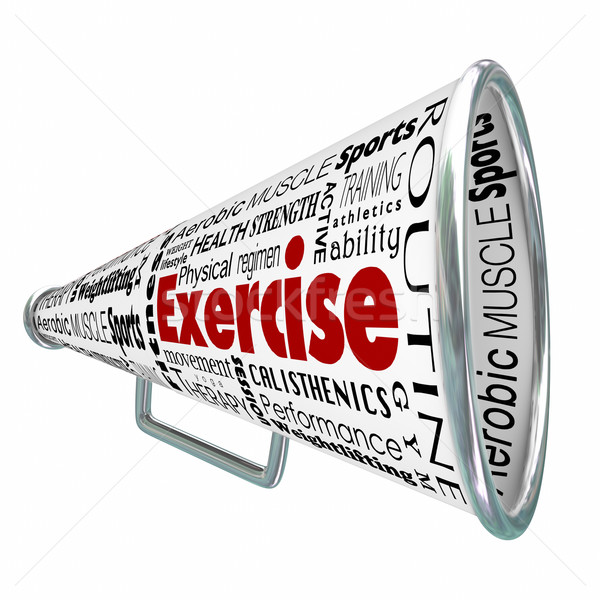 Exercise Bullhorn Megaphone Coach Training Physical Conditioning Stock photo © iqoncept