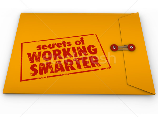 Secrets of Working Smarter Yellow Envelope How to Advice Informa Stock photo © iqoncept