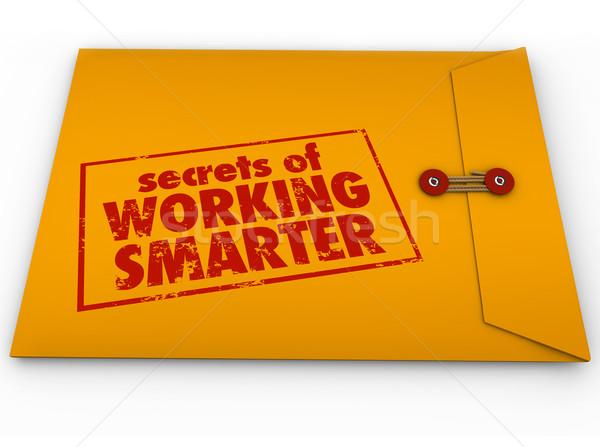 Secrets travail jaune enveloppe conseil Photo stock © iqoncept