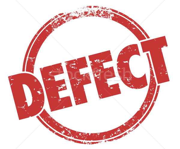 Defect Word Red Stamp Bad Product Broken Flaw Bug Return Merchan Stock photo © iqoncept