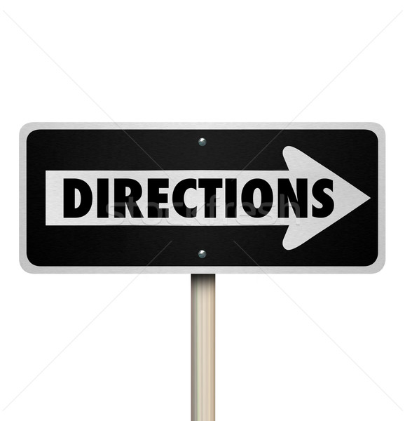 Directions One Way Road Street Sign Instructions Leadership Mana Stock photo © iqoncept
