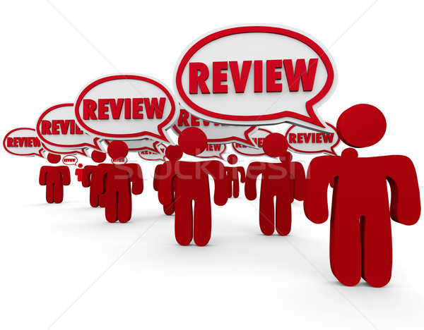 Review Word Speech Bubbles People Commenting Critic Feedback Stock photo © iqoncept