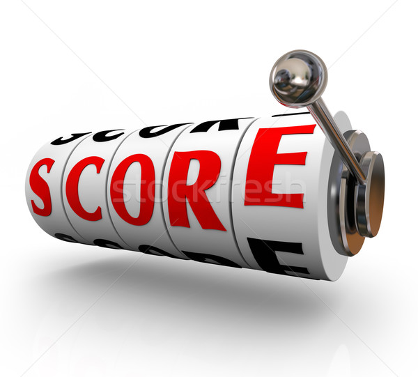 Score Word Slot Machine DIals Total Winning Amount Stock photo © iqoncept