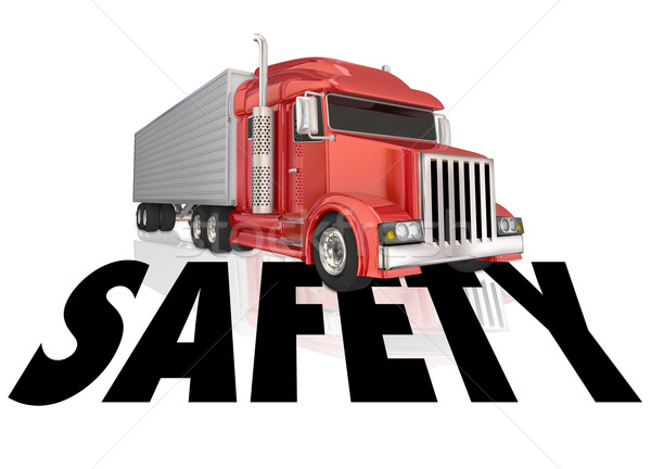 Safety Word 3d Red Truck Driving Security Training Stock photo © iqoncept