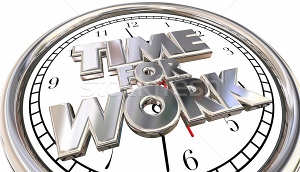 Time for Work Clock Job Career Task Project Pressure Stress Dead Stock photo © iqoncept