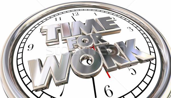 Czasu pracy zegar pracy kariery zadanie Zdjęcia stock © iqoncept