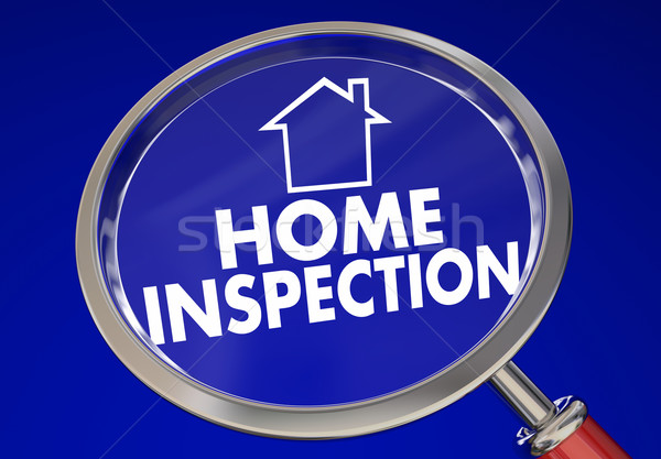 Home Inspection Magnifying Glass House Safety Check 3d Illustrat Stock photo © iqoncept