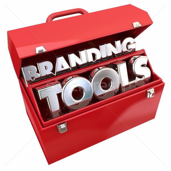 Branding tools marketing bedrijf business bewustzijn Stockfoto © iqoncept